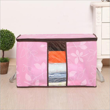 High Quality New Non-woven fabric Clothes Blanket Folding Storage Organizer Box Bag Close 1PCS Bedding bag#S608