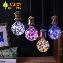 Led lamp e27 led bulb christmas string lights 110v 220v filament bulb g95 holiday lights christmas decor for home FANCYLIGHTING(China)