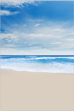 5X7ft Clouds Sky Summer Blue Sea Waves Sand Beach Custom Photography Studio Backgrounds Backdrops Vinyl F1309