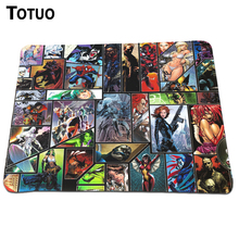 Direct selling marvel Animation Mouse Pad Notebook Computer Mouse Mat Mice Pads Soft Silicone Rectangular Lock Edge Pad