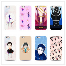animation yuri on ice Transparent Soft TPU Silicone phone Cover for iPhone 7 7Plus 6 6s 6Plus 5S 5 Yuri!!! plisetsky tiger case