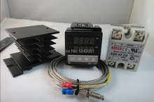 4 IN 1 ! 100-240VAC PID Temperature controller + max.40A SSR + heat sink + 2m quality K probe