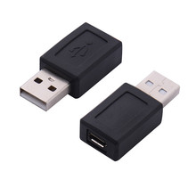 2 USB 2.0 male to micro Female changer adapter convertor data