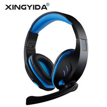 USB Gaming Headset Wired Headphones 7.1 Surround Sound Channel with Mic Volume Control LED Light Auriculares for Computer PC