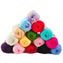 50g Soft Merino Wool Yarn For Hand Knitting Thick Chunky Milk Cotton Yarn Crochet Thread Baby Clothes Colorful Cashmere Yarn(China)