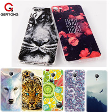 GerTong Pattern Case For Meizu M5 M5S M2 Note Mini M3S U10 U20 Pro 6 M3E Soft TPU Painted Floral Cartoon Animal Cover Coque(China)