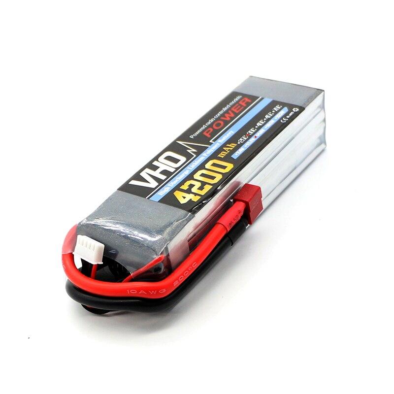 VHO lipo battery 14.8v 4200mAh 30C 4s T/XT60 FOR RC airplane cell akku li-poly battery 1pcs<br>