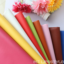 Buulqo Big Lychee Pu Leather Faux embossed Nice PU leather, Faux Leather Fabric for Sewing, PU artificial leather 50x70cm(China)