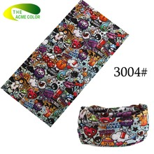 Brand Designer Male/Female Magic Scarves Printed Scarf rectangle Characters Colorful Multifunctional Headband 19 Patterns Good