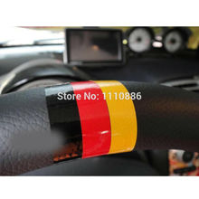 3 x Newest Germany Flag Style Car Steering Wheel Stickers Decoration Decals Volkswagen Audi BMW Benz Opel - Ecarlife Online Store store