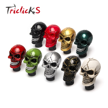 Triclicks Universal Car Interior Accessories Decoration Car Manual Gear Stick Shifter Lever Knob Wicked Carved Skull Head Shape