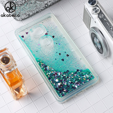 AKABEILA Glitter Liquid Soft TPU Case For Huawei GR5 Honor 5X Honor Play 5X KIW-TL00 KIW-TL00H Cover Phone Case Back Covers
