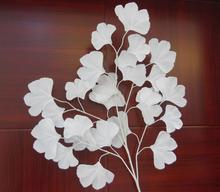 New White wedding props Road flower stage background decoration flower White artificial ginkgo biloba White leaves(China)