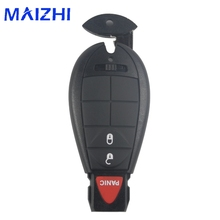 maizhi 10ps 3 Buttons Remote Case Smart Key Shell For Chrysler 300 Town Country for Dodge Challenger Charger Durango Journey(China)