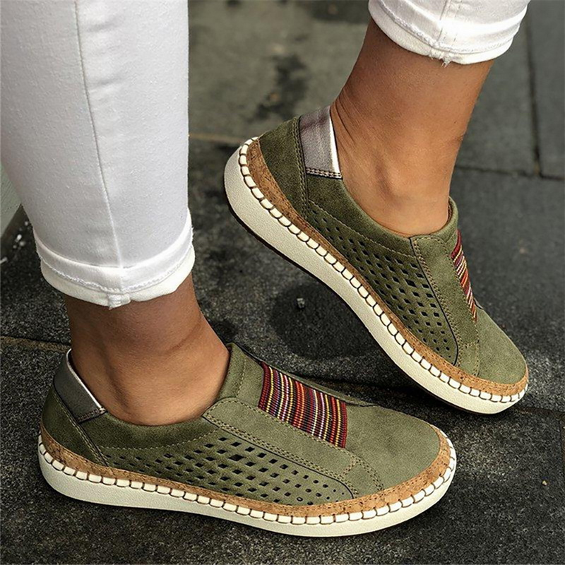 ADISPUTENT Leather Loafers Casual Shoes Women Slip-On Sneaker Comfortable Loafers Women Flats Tenis Feminino Zapatos De Mujer 8