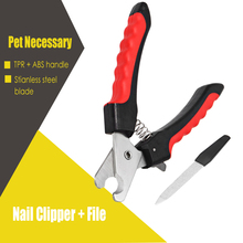 2 in 1 Pet nail clipper Pedi Painless Pet Dogs Cats Paw Nail Trimmer Cut 2 in 1 Pets Grinding Grooming supplies(China)