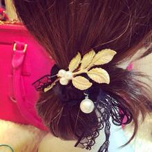 Luxury High-quality Gold Hairpin Female Fresh Greek Style Retro Gold Imitation Pearl Hair Accessories(China)