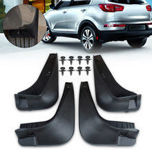 CITALL Rubber Mud Flaps Flap Splash Guards Mudguard Mudflaps Fenders Protector For Kia Sportage R 2010 2011 2012 2013 2014(China)