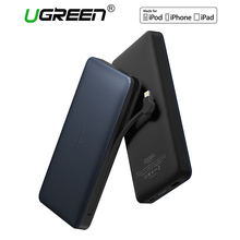 Ugreen 20000mah Power Bank with Charging Cable Portable External Battery Powerbank for Android and IOS Mobile Phones Power Bank(China)