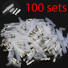 100 Sets x 4.0 bullet terminal car electrical wire connector diameter 4mm pin set 100sets=400pcs Female + Male + Case