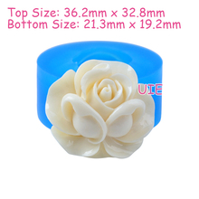 HYL287U 36.2mm Rose Flower Silicone Mold - Cake Decoration Craft, Fondant, Gum Paste, Jewelry Making, Candy, Scrapbooking, Resin(China)