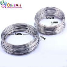 PKR 541.29  9%OFF | OlingArt 1.0MM/40 loops metal wire coil steel beading findings brooches bouquet blank bracelet bangles  DIY Jewelry making