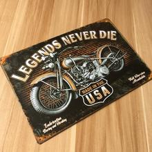 "RO-X-0546 New products "" about USA motorcycle "" vintage metal tin signs painting home decor poster wall art craft 20X30cm(China)"
