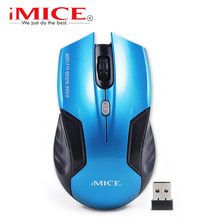 USB Wireless Mouse 6 Buttons 2.4Ghz Receiver Optical Computer Mouse Gamer 2000dpi Fashion Gaming Mice For Desktop Laptop(China)