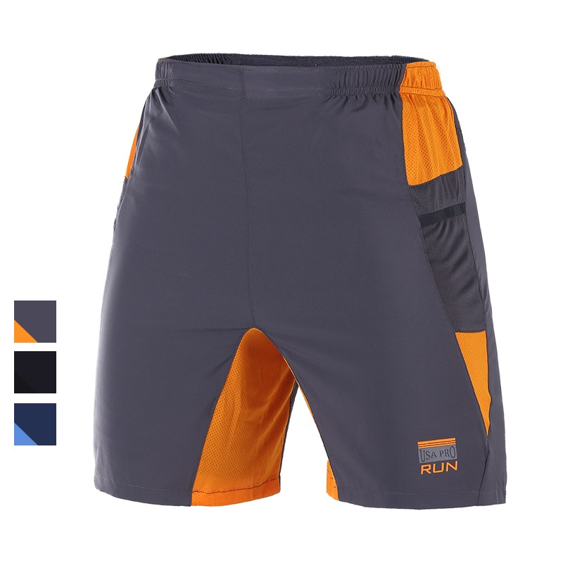 U Mens 2in1Professional Running Shorts 2 Pockets Mesh Panel Basketball Camping  Underwear Bottoms Breathable Marathon Shorts<br><br>Aliexpress