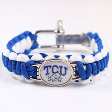 Texas Christian Horned National Football NCAA Championship umbrella Rope Bracelet weaving outdoor Survival bracelet Wholesale(China)