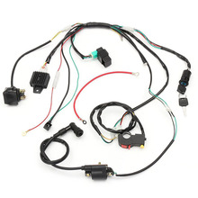 NEW 50cc-125cc CDI Wiring Harness Loom Solenoid Coil Rectifier PIT Quad Dirt Bike for 50cc 110cc 125cc PIT Quad Dirt Bike ATV(China)