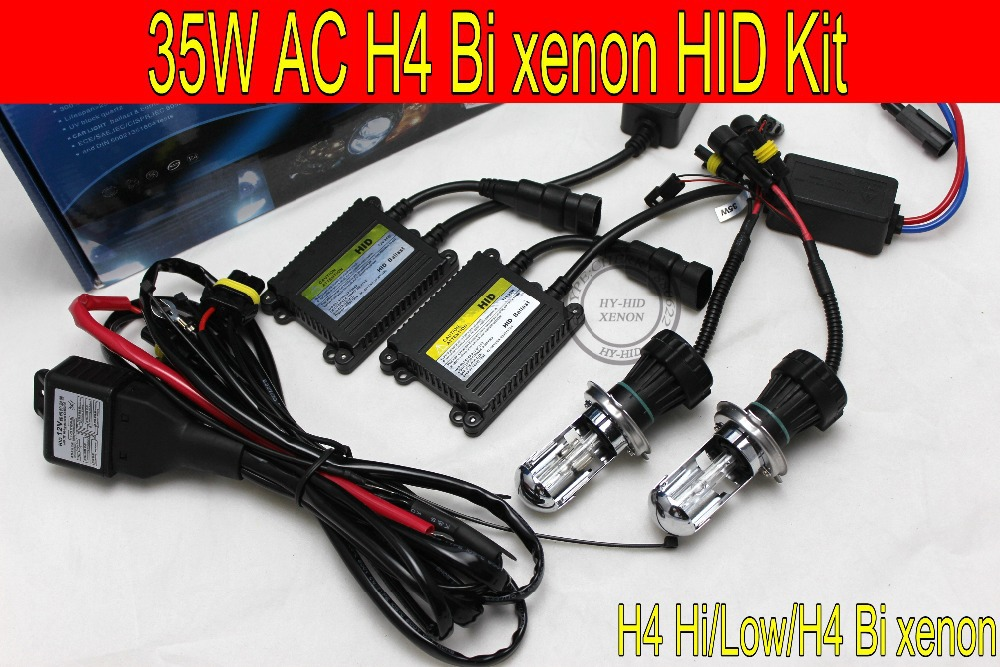 Free shipping 1set12V 35w AC xenon kit  H4 Bi xenon HID high and low kit 6000K 8000K 3000K 4300K 10000K car headlight<br>