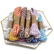 10M 14Colors DIY Twisted Paper Raffia Craft Favor Gift Wrapping Twine Rope Thread Scrapbooks Invitation Flower Decoration(China)