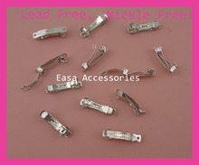 "50pcs Silver finish 3.0cm 1.2"" Mini Plain Metal French Barrettes hair clips for hair bow DIY finding at lead free,nickle free(China)"