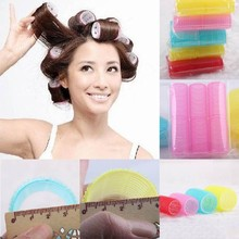 6Pcs/Sets Women Girls Big Self Grip Hair Rollers Cling Any Size DIY Hair Curlers Beauty Tools Maquiagem Beauty Makeup Random