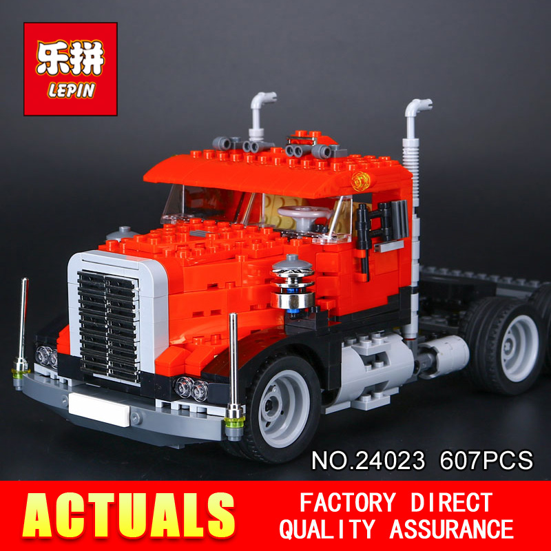 New LEPIN 24023 607Pcs Classic distorted creative truck tractor toy Building Blocks Bricks Education Model Toys 4955<br>