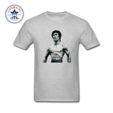 2017 Hot Selling Funny bruce lee Cotton T Shirt for men(China)