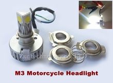 2x M3 2000LM 30W LED Bulbs Motorcycle Driving Headlight HID High/Low Xenon Bicycle Bike Headlamp DRL Moto Kit 2Pcs Free shipping(China)