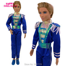 Royal Prince Uniform Men Outfit Belt Male Jumpsuits Clothes Shoes For Barbie Friend Ken Doll 1/6 Puppet Play House Toys Kid Gift(China)