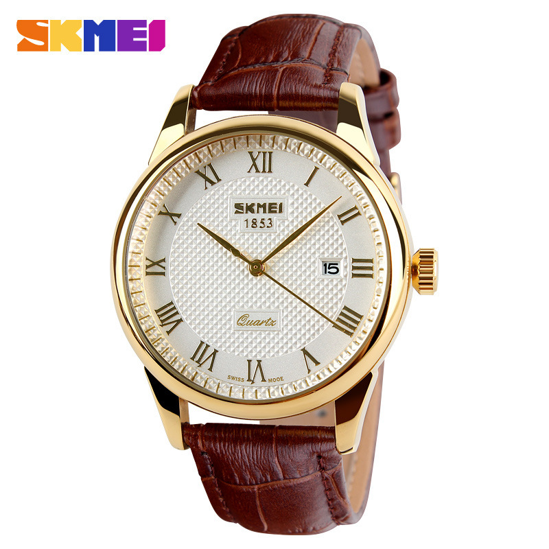 Mens Watches Top Brand Luxury Quartz Watch Fashion Casual Watch Leather Male Wristwatches Quartz-Watch Relogio Masculino Gold<br><br>Aliexpress