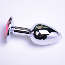 Buy Hot! Small Size Anal Toys Butt Plug Stainless Steel Anal Plug Sex Toys Adult Product