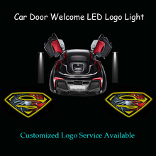 Buy 2x Car Door 3D Superman & Spider-Man Logo Welcome Ghost Shadow Puddle Spotlight Courtesy Laser Projector LED Light, 1046 for $18.77 in AliExpress store