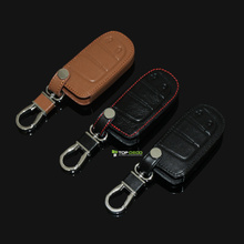 New Car Styling Leather Car Key Cover Key Case For Dodge JCUV Dart Journey Jeep Wrangler Grand Cherokee Compass Longitude
