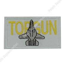 TOP GUN Quality Embroidered Patch Insignia Tom Cruise TV Movie Film series Cosplay Logo Costume Badge US NAVY WEAPONS SCHOOL