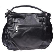Top Sale Women Girls PU Leather Hobo Handbag Bag Tote Shoulder Cross Body Black New(China)