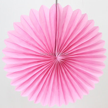 "Hanging Party Decoration 16""(40cm) Tissue Paper Fan Wedding Graduation Supplies Round Paper Fan"