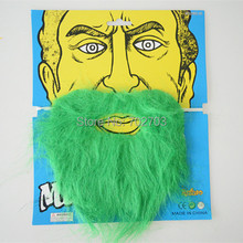 2pcs/lot Halloween cosplay carnival Stylish Costume Party green Fake big mustache Funny facial hair kit