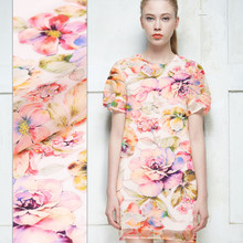 Water Yanghua City printed silk fabric satin crisp silk organza fabric natural silk satin fabric fashion chinese silk fabric(China)