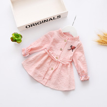 Spring Kids Girl Shirts High Grade Fine Cotton Girls Blouse  Children's Clothing 0-3 Year C002