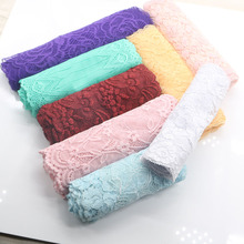 6-15CM random delivery 10 yards mixed elastic lace fabric